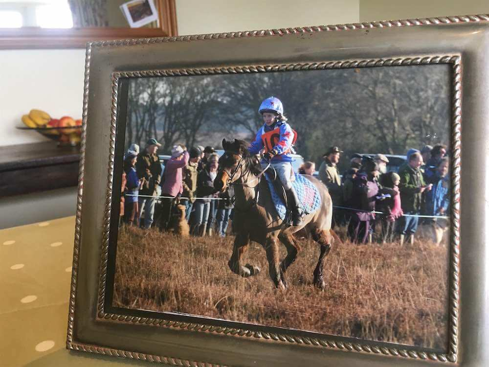 Flora Gibbs, winning the New Forest Point to Point on Posy.